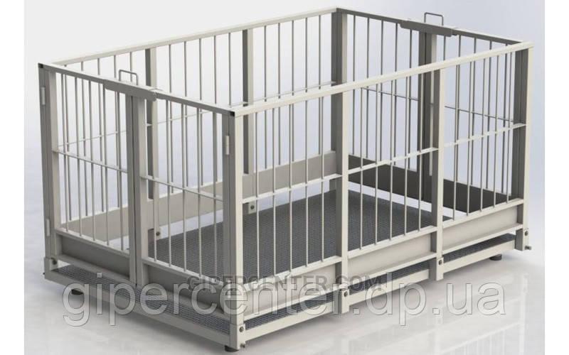 Весы для взвешивания скота 4BDU-600X, 1000х2000мм БЮДЖЕТ (до 600 кг)