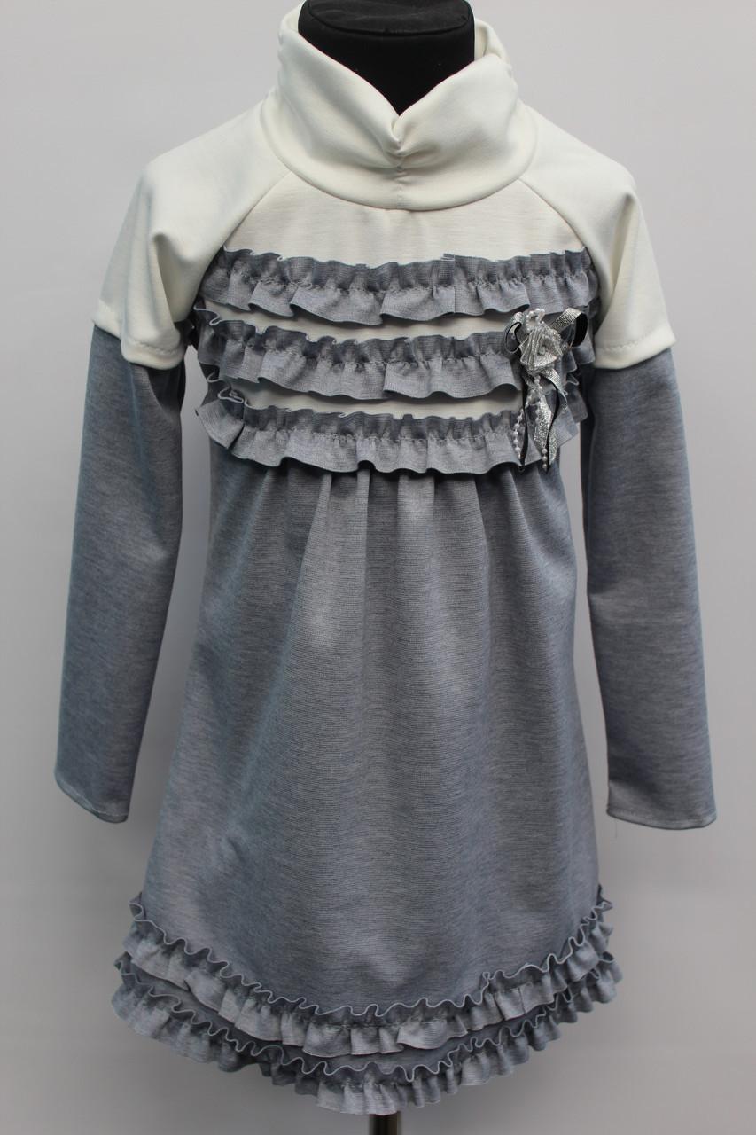 Детское платье в мелкую клетку с пуговицей на застежке  возраст от 3 до 6 лет