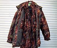 Зимний костюм с внутренней курткой для охоты, рыбалки, активного отдыха ANT Bison, размер L, кленовый лес