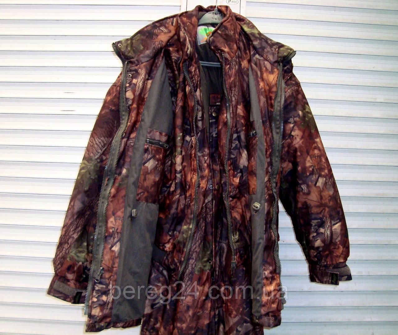 Зимний костюм с внутренней курткой для охоты, рыбалки, активного отдыха ANT Bison, размер XXXXL, кленовый лес