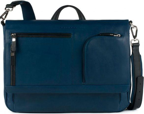 6951ff2e86d2 Кожаная сумка для мужчин Piquadro SPOCK CA3276S80_BLU синий — только ...