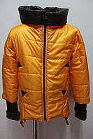Детская курточка с трикотажным манжетном на возраст 6-9 лет