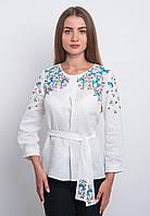 Женская блуза вышитая с пояском