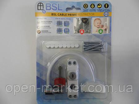 Захист на вікна від дітей, обмежувач відкривання, Україна, BSL Cable prime, упаковка Картон, фото 2