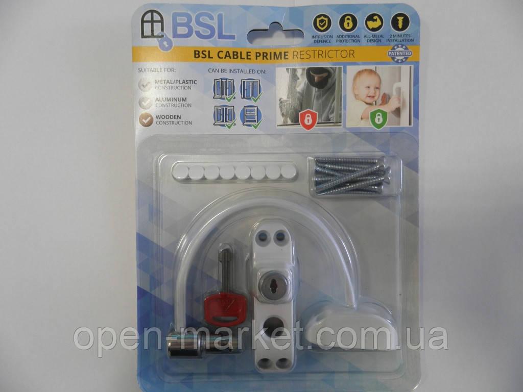 Захист на вікна від дітей, обмежувач відкривання, Україна, BSL Cable prime, упаковка Картон