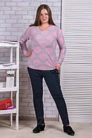 Женские штаны на флисе Ласточка А525-2. Синие. Размер 52-56.