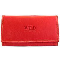 Женский кожаный кошелек Always Wild N20-MH red, фото 1