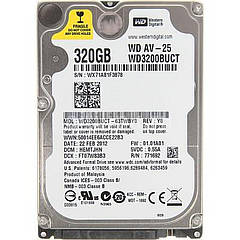 Винчестер для ноутбука  320GB Western Digital WD3200BVVT