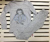 Детская трикотажная пижамка для девочки ТМ Фламинго рост 122, фото 1