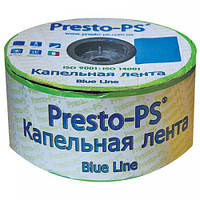 "Крапельна стрічка ""Presto - Blue line"" 1000 м, відстань крапельниць 20 см, 7 mil - Італія"