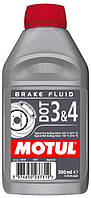 Тормозная жидкость Motul MOTUL DOT 3&4 / 0,5 литра, (807910 / 102718), original