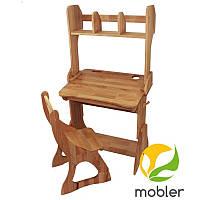 Комплект парта з надбудовою (ширина 70см) і стілець