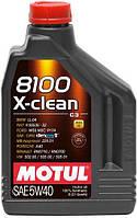 Масло моторное Motul 8100 X-CLEAN SAE 5W40 / 2 литра, (854121 / 102049), original