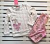 Красивая трикотажная пижама для девочки рост 116