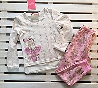 Красивая трикотажная пижама для девочки рост 116, фото 1