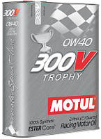 Масло моторное Motul 300V TROPHY SAE 0W40 / 2 литра, (825402 / 104240), original