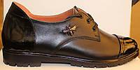 Женские кожаные туфли на шнурках, кожаные туфли женские от производителя модель Д - 24Т