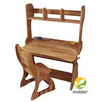 Комплект парта (ширина 90см) з надбудовою та стільцем