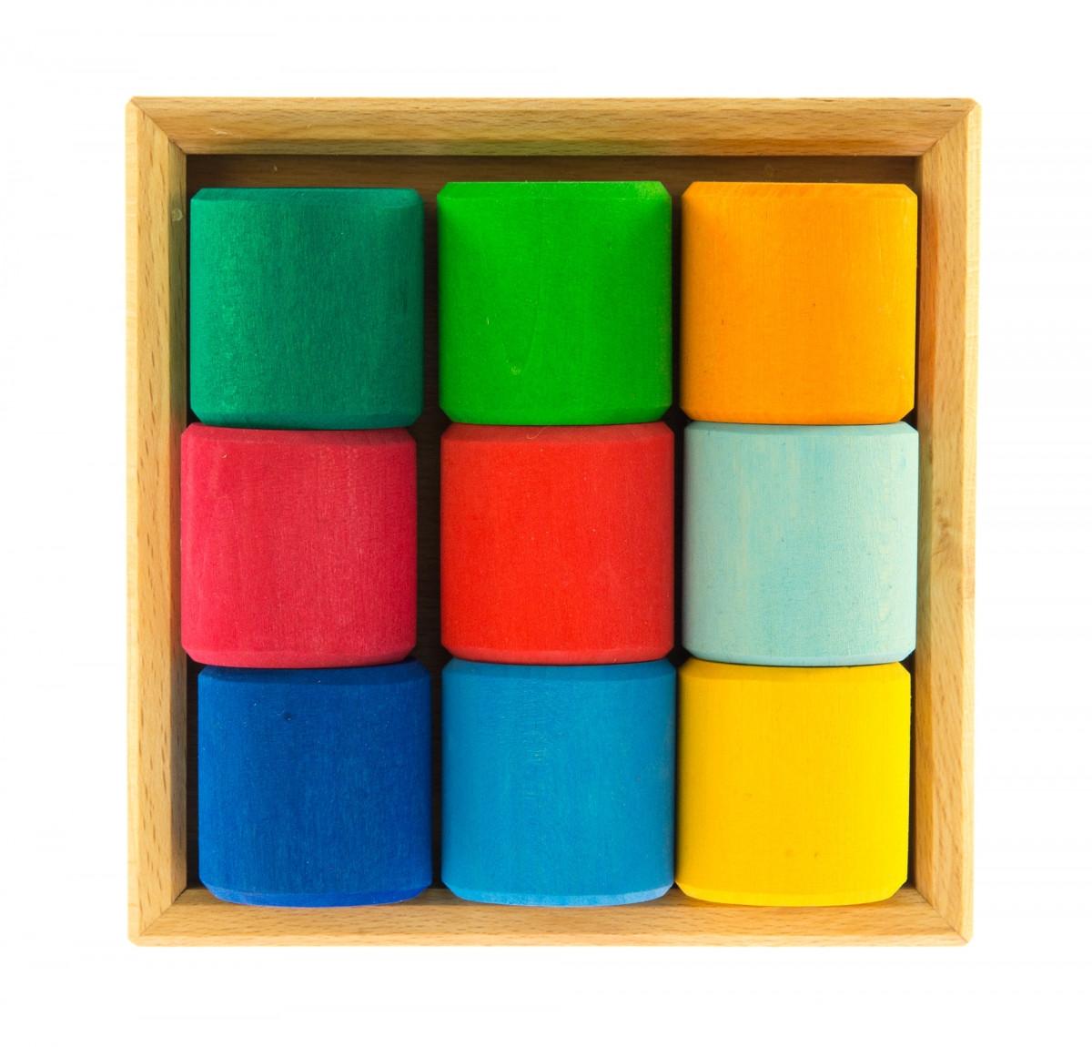 Разноцветный конструктор из дерева Разноцветный ролик NIC523347