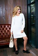 Вязаное платье Кэти молоко Аrizzo 44-48 размеры