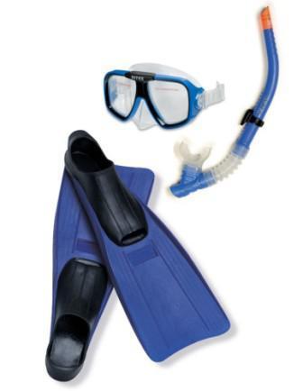 Набір для плавання Intex (55957) маска, трубка, ласти