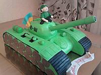 Торт Танкист для ребенка на день рождения  под заказ