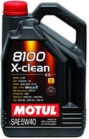 Масло моторное Motul 8100 X-CLEAN SAE 5W40 / 4 литра, (854154 / 104720), original