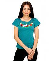 Вишиванка жіноча. Футболка вишита. Жіночі футболки в українському стилі.