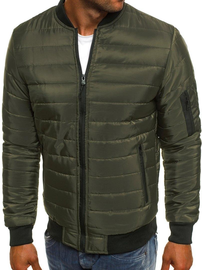 Мужская куртка зеленая