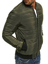 Мужская куртка зеленая, фото 2