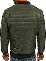 Мужская куртка зеленая, фото 3