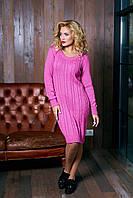 Вязаное малиновое платье Кэти Аrizzo 44-48 размеры