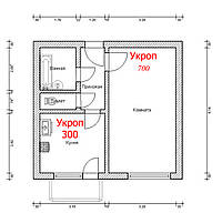 Система отопления 1к. квартиры утепленной. Набор для монтажа