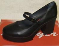 Кожаные туфли женские на каблуке, кожаные женские туфли от производителя модель Д - 25ТП