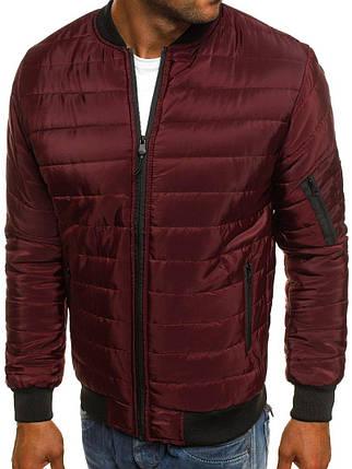 Мужская куртка Bordo бордовая, фото 2