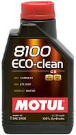 Масло моторное Motul 8100 ECO-CLEAN SAE 5W30 / 1 литр, (841511 / 101542), original