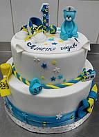 Тортик на день рождение ребенку с мишкой под заказ