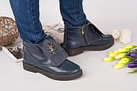 Демисезонные ботинки Rob_c@va!i натуральная кожа, внутри байка. Цвет темно синий