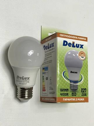Светодиодная лампа Delux BL60 7W A60 4100K E27 Код.59004, фото 2
