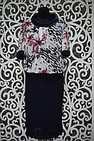 Женские платья масло+шифон на подкладке 50, 52 размер баталы