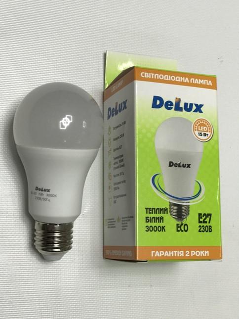 Светодиодная лампа Delux BL60 15W A60 3000K E27 Код.59005