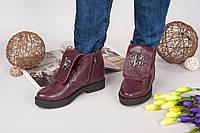 Демисезонные ботинки Rob_c@va!i натуральная кожа, внутри байка. Цвет бордовый