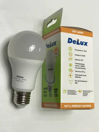 Светодиодная лампа Delux BL60 15W A60 3000K E27 Код.59005, фото 2