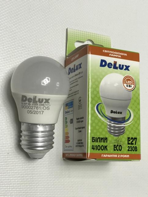 Светодиодная лампа Delux BL50Р 5W P45 4100K E27 Код.59007