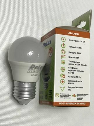 Светодиодная лампа Delux BL50Р 5W P45 4100K E27 Код.59007, фото 2