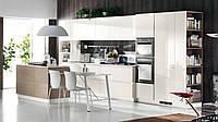 Белая кухня без ручек с механизмом push-to-open