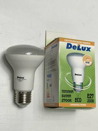 Светодиодная лампа Delux FC1 8W R63 2700K E27 Код.59009, фото 2
