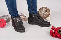 Демисезонные ботинки Rob_c@va!i натуральная кожа, внутри байка. Цвет черный