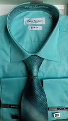 Свадебный набор рубашкаPierre Pasolini с галстуком под запонки