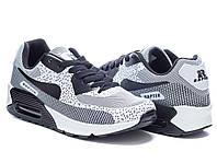 Стильные удобные женские серые кроссовки Nike Air Max 90 Найк Аир Макс 90, реплика Rapter